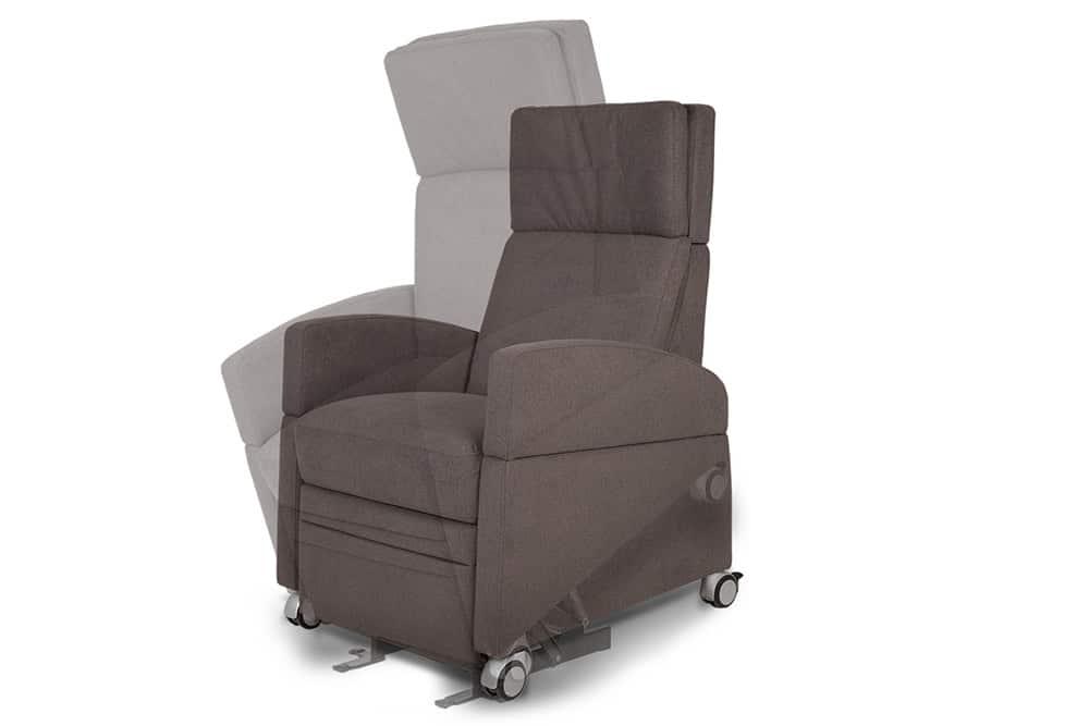 Pflegesessel mit leise, ruhige und vibrationsarme Motorik