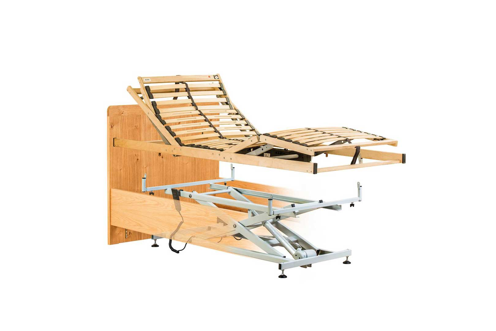 Wir bauen jedes Bett in ein Pflegebett um